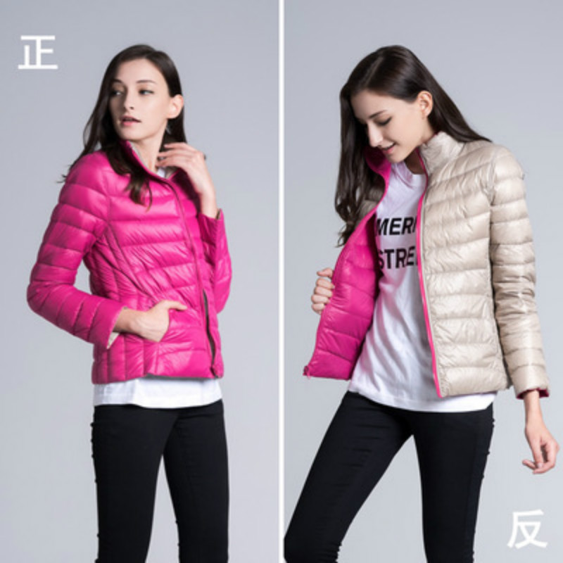Autumn and winter new thin jacket women ladies collar double-sided wearing short coat on both sides of the trend physical and sensing properties of zinc oxide thin films