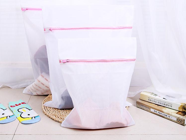 3pcs/set S/M/L Clothes Washing Machine Laundry Bra Aid Lingerie Mesh Net Wash Bag Pouch Basket SN1055