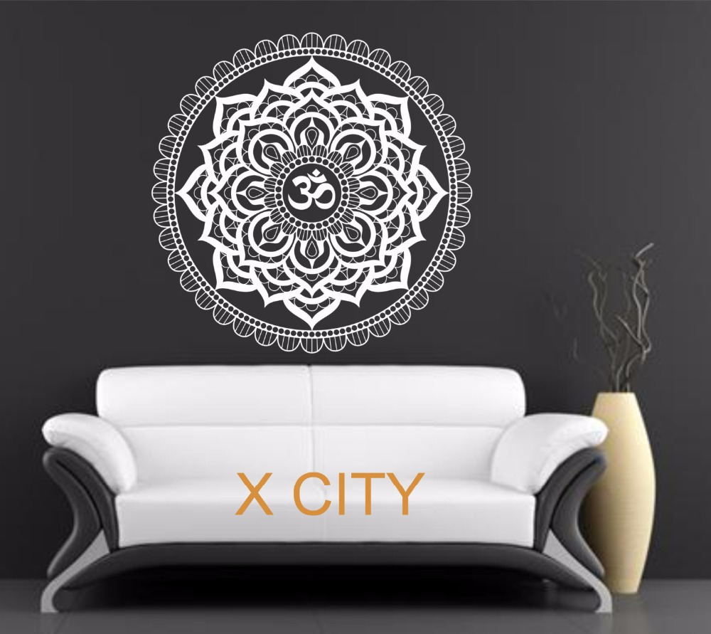 Aliexpresscom Buy Mandala Pattern Yoga Wall Decal Bedroom - Wall decals bedroom