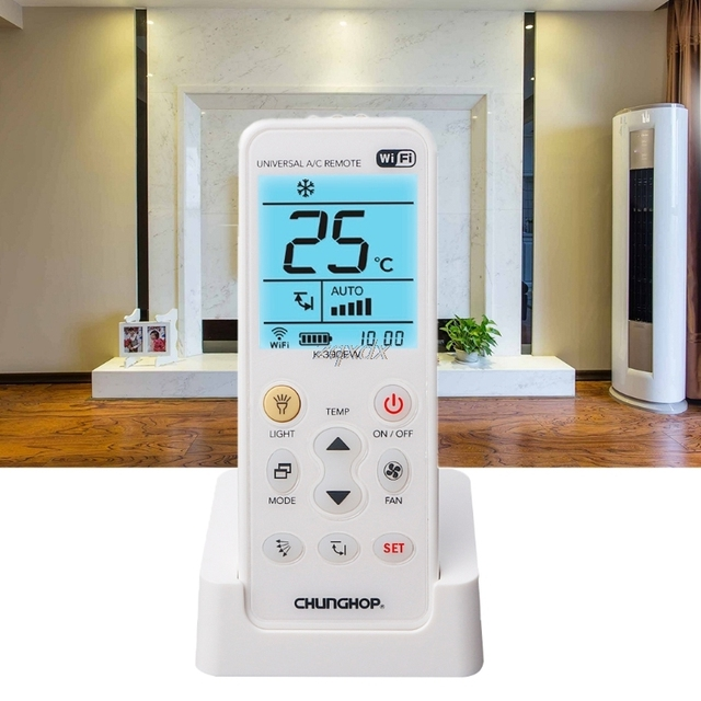 K-390EW WiFi Smart Universal LCD Air Conditioner A/C Remote Control Controller Z07 Drop ship
