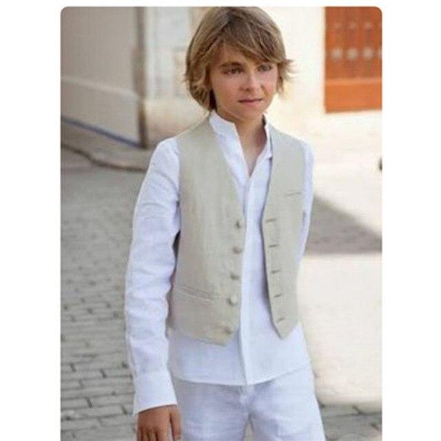 Boys blazer kids Boy suits for weddings Prom Suits linen vest+ ...