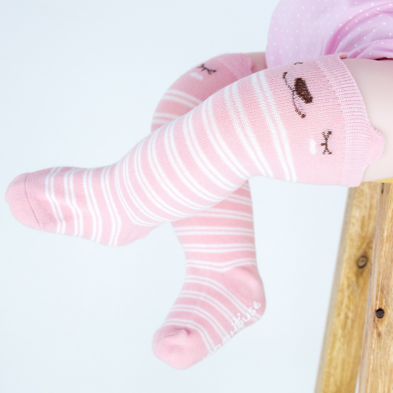 Socks & Tights Cotton Baby Socks Animal Printed Knee High Kids Boy Girl Socks Anti Slip Cartoon Cat Leg Warmers 0-4y
