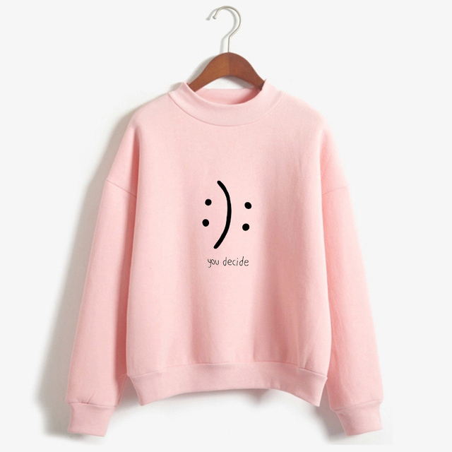 Smiley Face Printed Sweatshirt