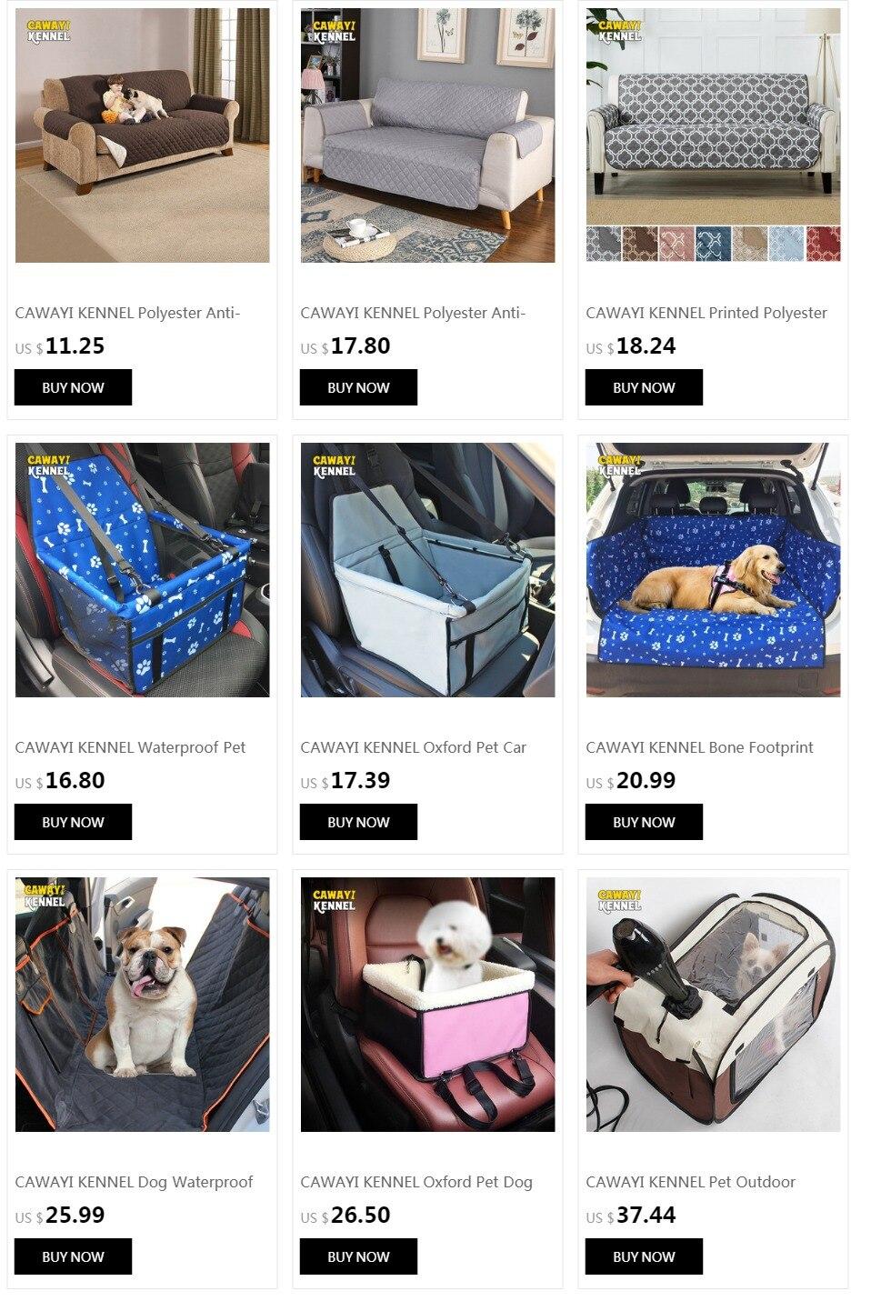 CAWAYI KENNEL PVC Waterproof Small Pet Dog Cat Car Seat Cover Mat Blanket Rear Back Dog Car Seat Protection Hammock D0041 1