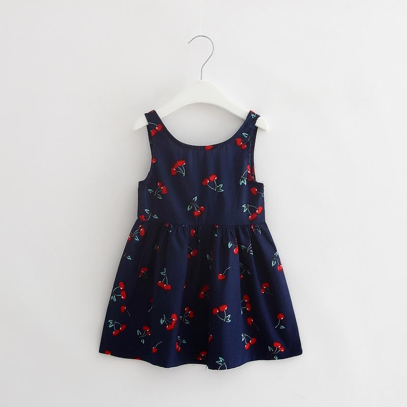 HTB1SfJ6KpXXXXbFXpXXq6xXFXXXh - 2-7y Girls Clothing Summer Girl Dress Children Kids Berry Dress Back V Dress Girls Cotton Kids Vest dress Children Clothes 2017