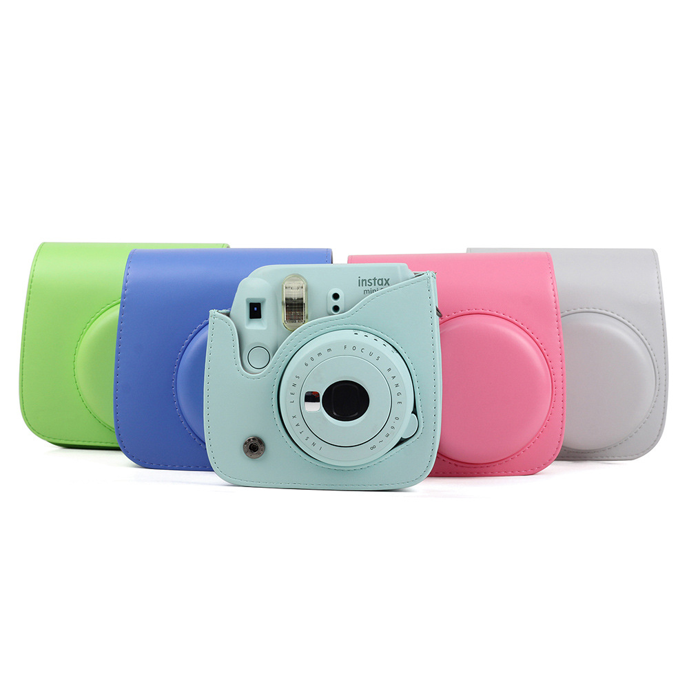 MOONBIFFY Camera Bag Protective Case PU Cover with Shoulder Strap