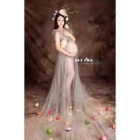 Maternity Photography Props Fancy Long Maternity Dresses Pregnant Clothes Photography Maternity Lace Dress Art photography