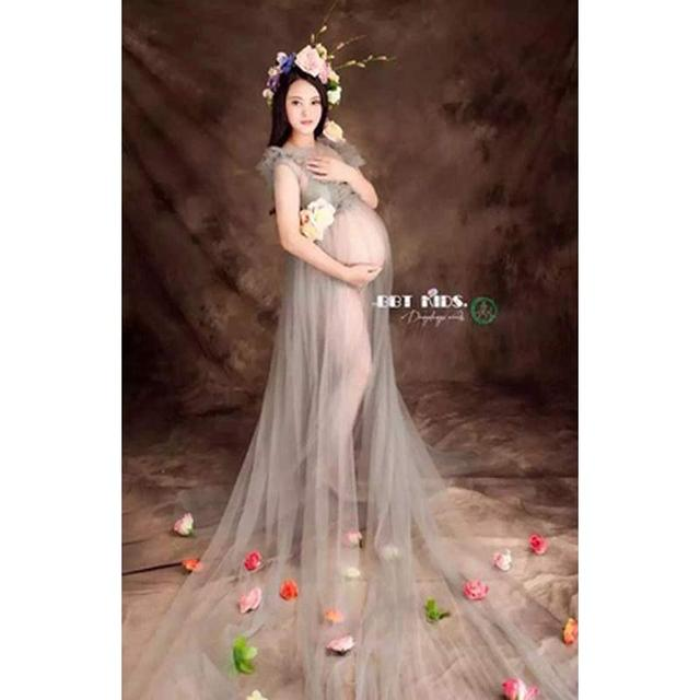 7018e959f38c6 US $40.91 11% OFF Maternity Photography Props Fancy Long Maternity Dresses  Pregnant Clothes Photography Maternity Lace Dress Art photography-in ...