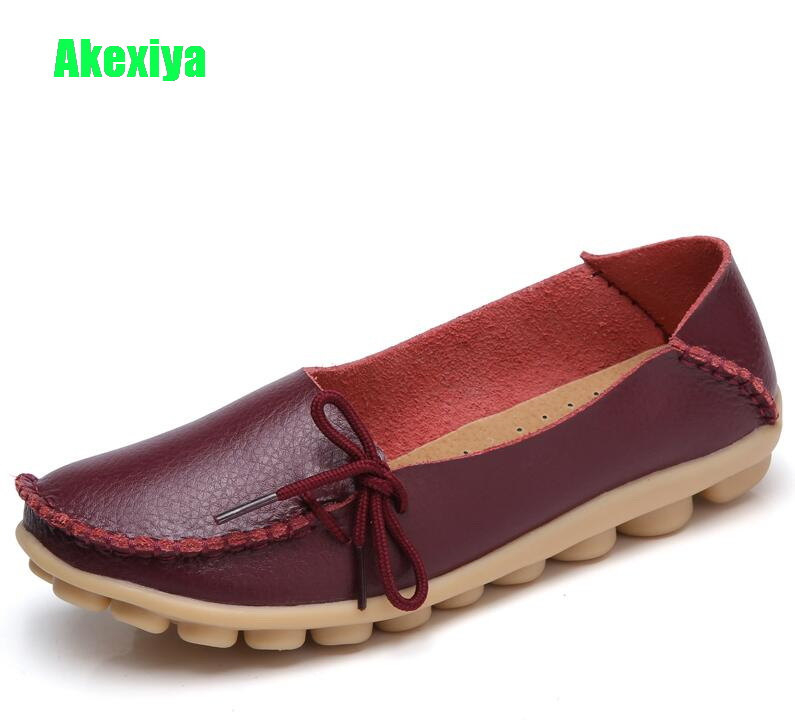 Akexiya 2018 Women Leather Loafers Fashion Flats Sliver White Black Shoes Woman Slip On Loafers Boat Shoes Moccasins Size 35-44 fashion tassels ornament leopard pattern flat shoes loafers shoes black leopard pair size 38