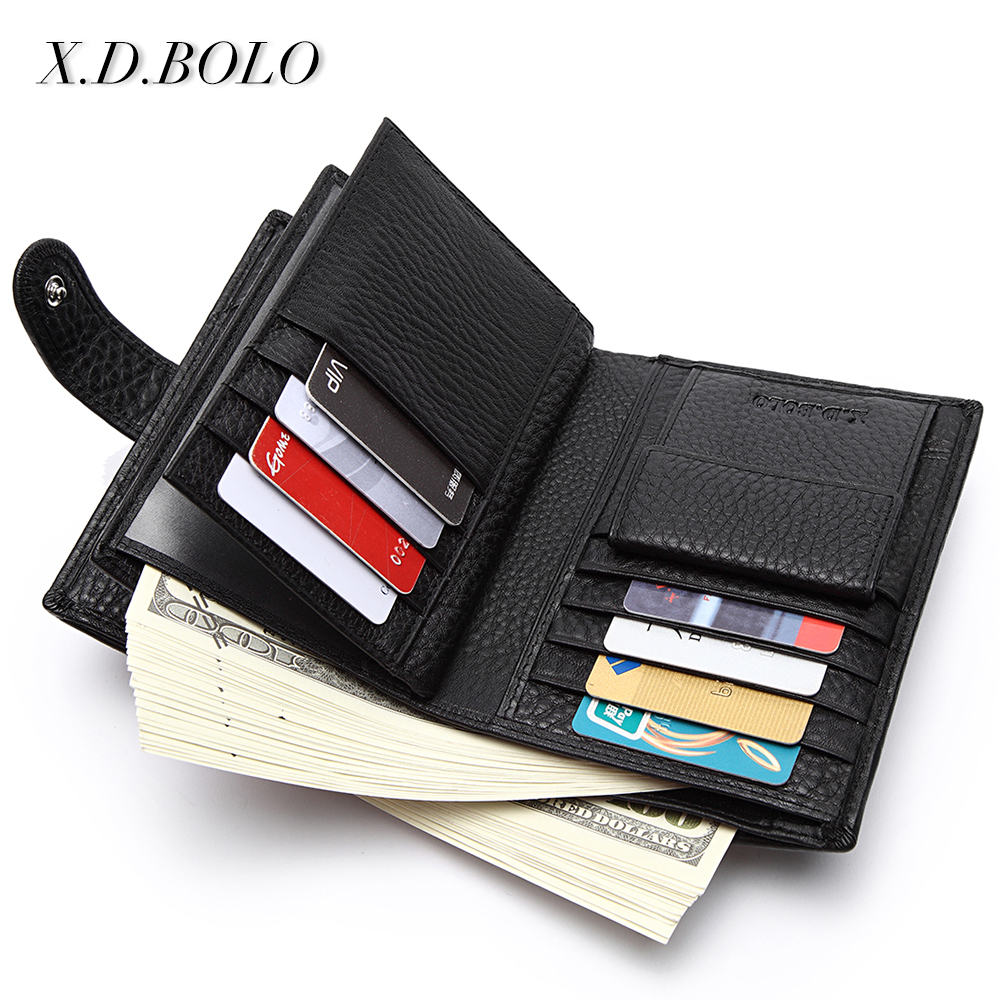 X.D.BOLO Wallet Card-Holder Coin-Pocket Passport Genuine-Leather Travel Top-Selling Wiht