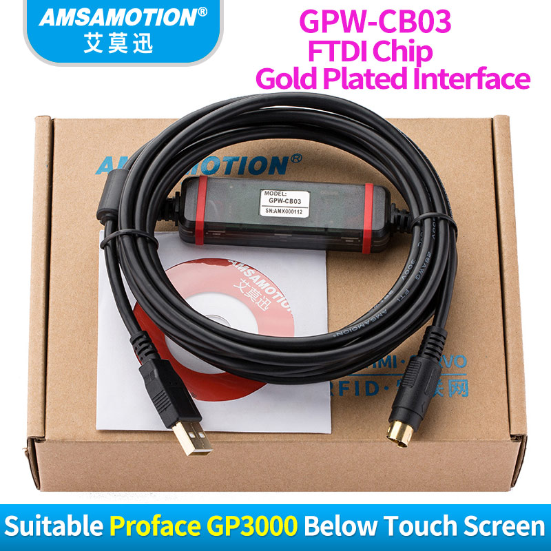 GPW-CB03 FTDI Type Download Cable Suitable Proface GP3000 Below Touch Screen Programming Cable стоимость