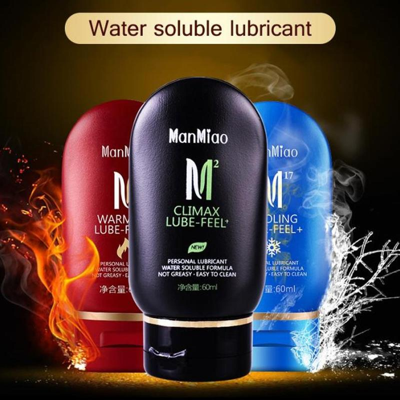 60ml Warming Cooling Lubricant Silk Touch Sex Lubricants Silky Thick Water-based Sex Oil Vaginal Anal Gel Sex Products For Adult
