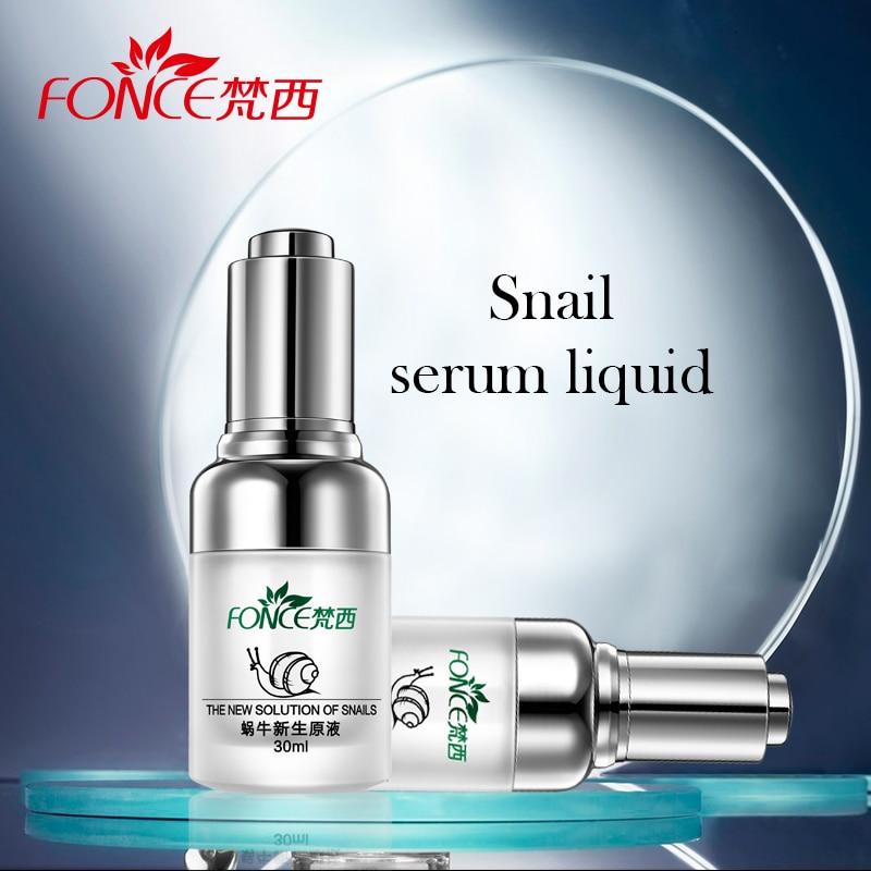 Fonce Red Ginseng Snail Mucin Serum Liquid Women Repair Skin Shrink Pores Firming Bright Treatment Acne Marks Korean Face Care