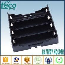 4 pcs/lot 18650 support de batterie en plastique noir 4x3.7 V 18650 Batteries 8 broches TBH 18650 4A P