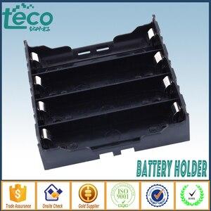 Image 1 - 4 sztuk/partia 18650 uchwyt baterii czarny plastik 4x3.7 V 18650 baterie 8 Pin TBH 18650 4A P