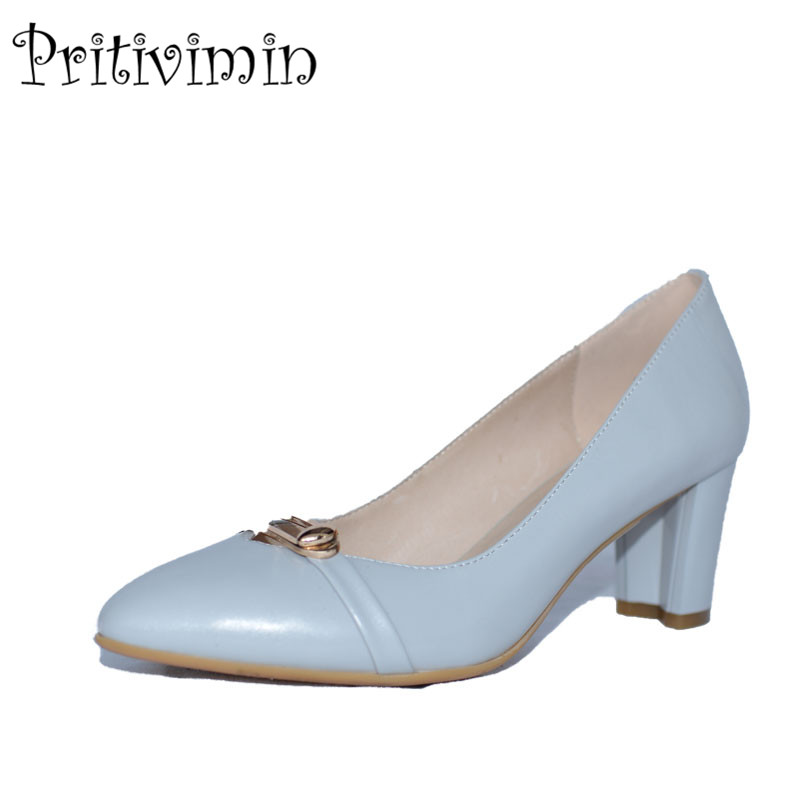 2017 ladies light gray pointed toe  handmade shoes women sheepskin leather heels youth fashion designer pumps Pritivimin FN7 2016 luxury designer brand pearl nubuck leather women s shoes pumps high heels sheepskin shoes top quality pointed toe shoes