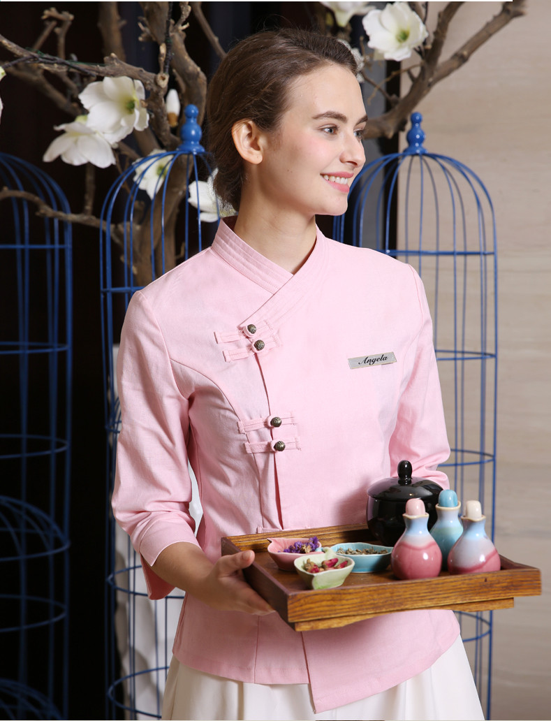 Considerate Beautician Work Clothing Summer Health Spa Uniform Cotton Linen Beauty Salon Sets Kotofusa Career Quality Work Wear Sales Medical
