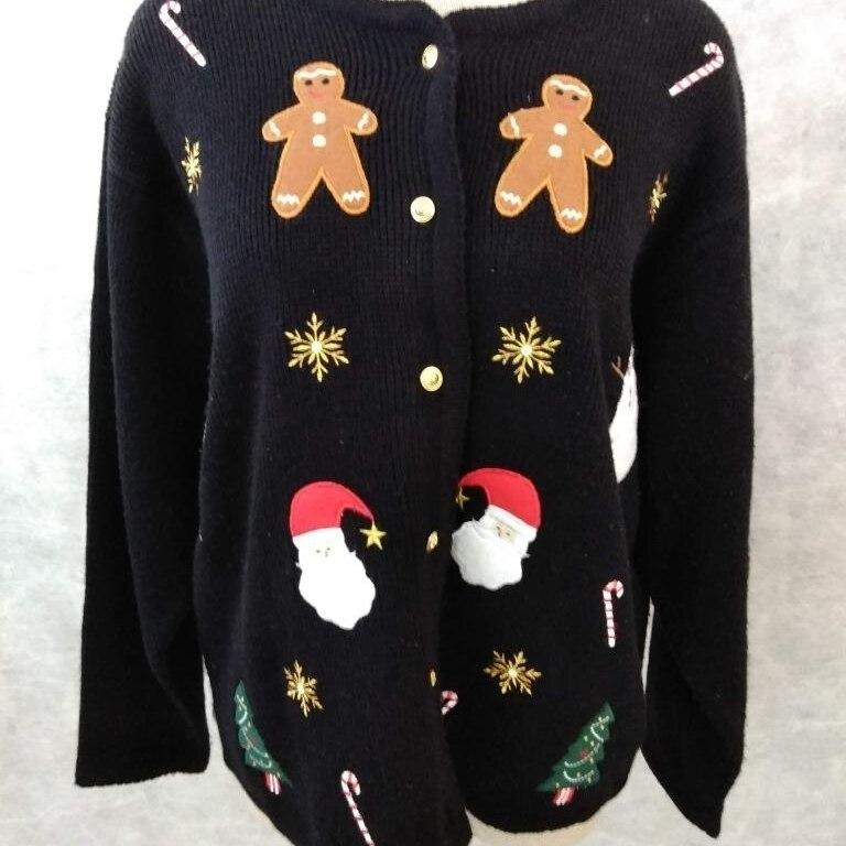 Kersttrui Maat L.Croft Barrow Lelijke Kerst Trui Maat L Candy Cane Gingerbread In