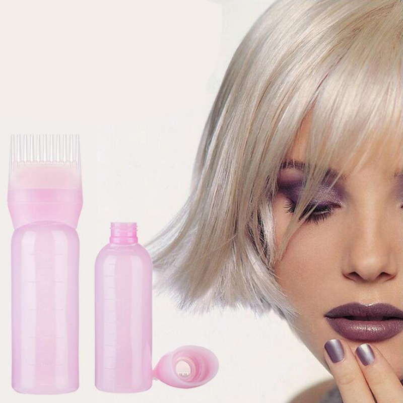 Useful Root Comb Applicator Bottle Hair Dye Bottle With Combs Hair Color Styling Product With Scale Hair Tool