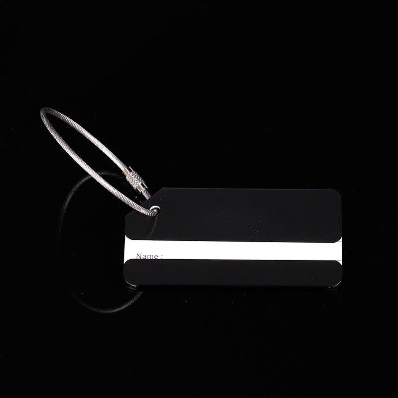 OKOKC багажные бирки из алюминиевого сплава, багажные бирки, ярлыки для багажа, аксессуары для путешествий - Цвет: Black