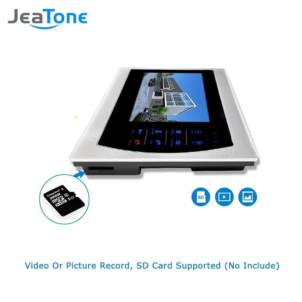 "Купить с кэшбэком Jeatone 10"" TFT Display wired Video doorbell Door Phone Intercom &3.7mm Lens Touch Key Outdoor Camera For Home Security"