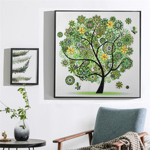 5D Special Shaped Diamond Painting Four Seasons Tree DIY Partial Drilled Cross Stitch Kits Crystal Embroidery Decor Home