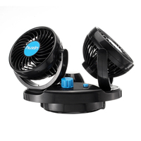 12V Air Conditioner Summer Portable Adjustable Speed Electric Fan ABS 360 Degree Rotation Gift Car Use Double Vehicle