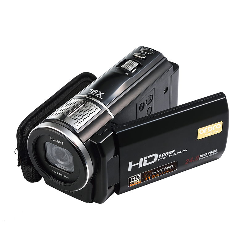 цена Ordro Protable Digital Video Camcorder DVR HDV-F5 Full HD 1080P 16X Zoom 3