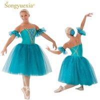 324b566a0f Songyuexia Woman New Ballet Dress Professional Adult Ballet Dance Yarn  Skirt Tutu Fluffy Skirt Swan Lake