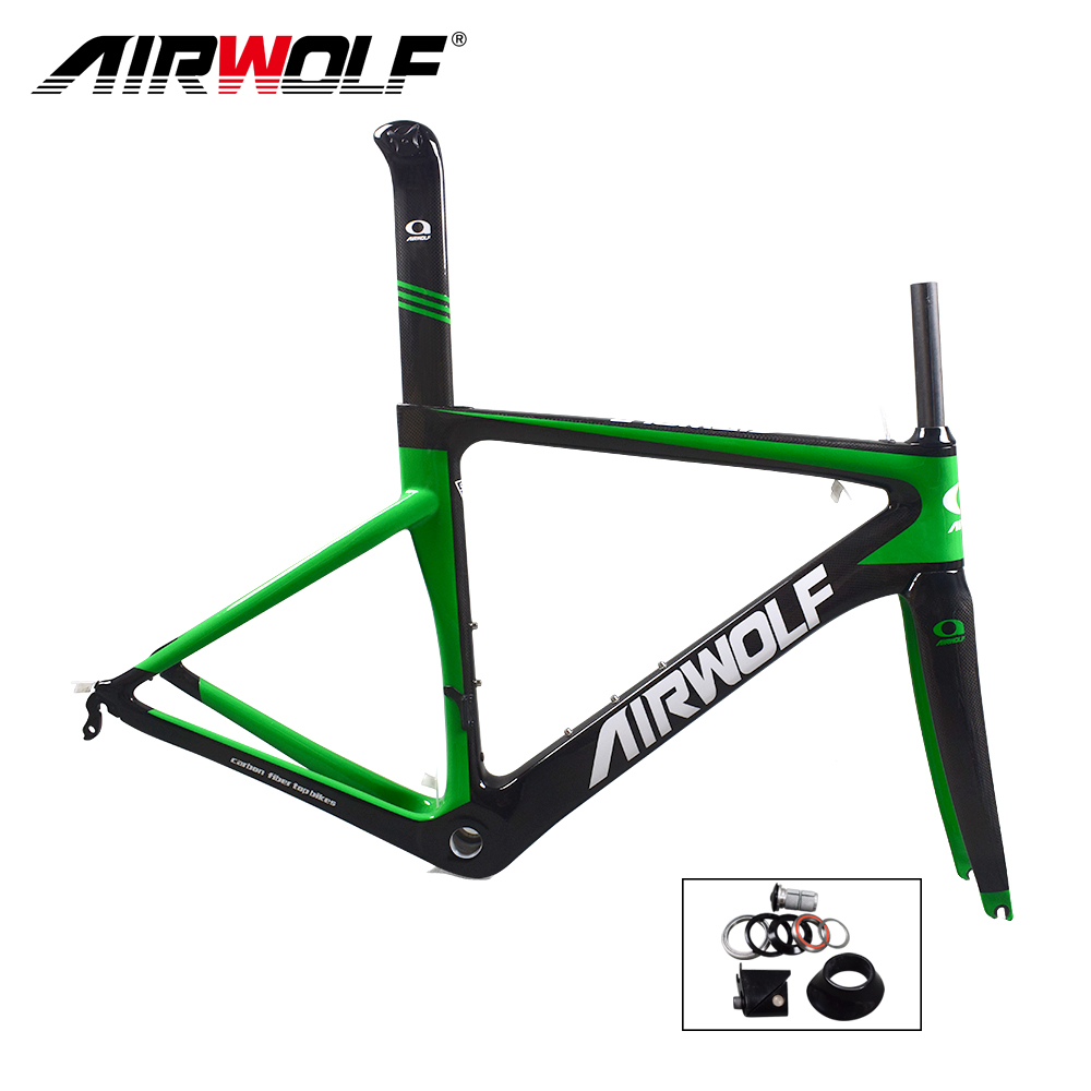 Airwolf Carbon road frame cycling bicycle frameset BSA 3K weave carbon bike frame size in 48