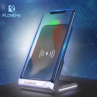 FLOVEME For Samsung Wireless Charger Dock Station For IPhone QI Wireless Charger Charging Dock Fast Mobile