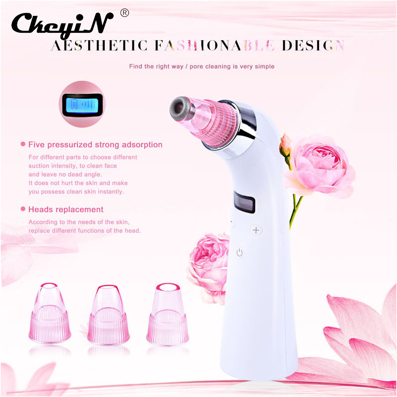 LED Facial Vacuum Suction Diamond Dermabrasion Blackheads Removal Scar Acne Pore Peeling Face Clean Facial Skin Care Beauty Tool personal care device skin purify beauty multifunctional skin care electronic tool blackheads removal pore cleansing exfoliation