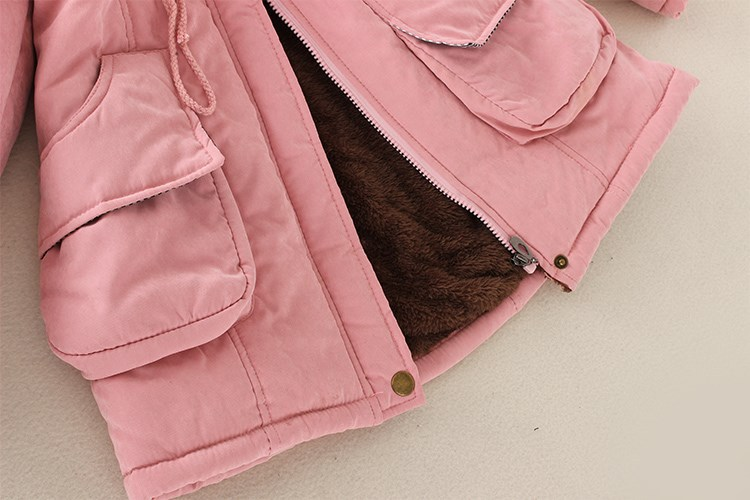 HTB1SfLBXorrK1RkSne1q6ArVVXac 2019 Winter New Women's Hooded Fur Collar Waist And Velvet Thick Warm Long Cotton Coat Jacket Coat
