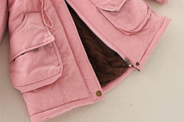 19 Winter New Women's Hooded Fur Collar Waist And Velvet Thick Warm Long Cotton Coat Jacket Coat 24