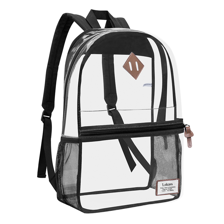 Clear Transparent Jelly Pvc Women Backpack Large Capcity Bookbags Girl School Bag Women Composite Bag Evening Clutches Bags 2019 in Backpacks from Luggage Bags