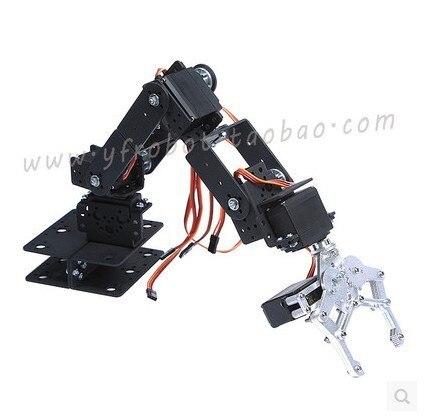 6 Dof Metal Mechanical Arm Robot Manipulator Robotic Claw Robotics Part for DIY RC Toy Remote Control Clamp Paw Claw Servo