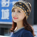 LongKeeper Pentacle Star Warm Skull Beanie Hip Hop Knit Cap Ski Crochet Cuff winter hat for Women Men