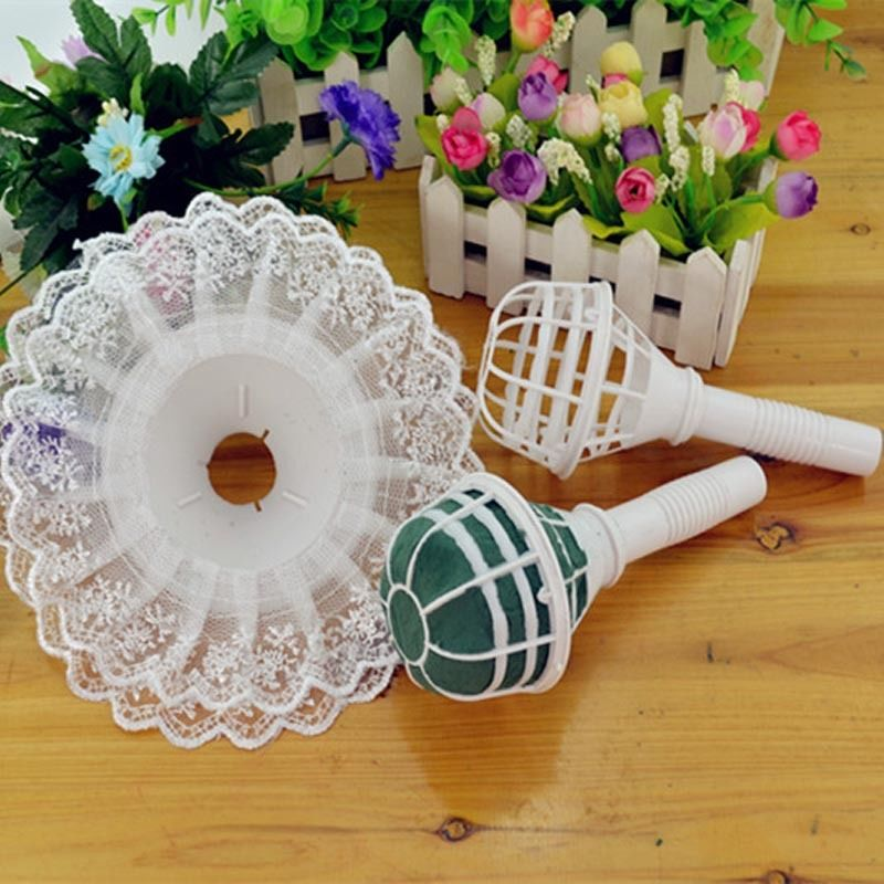 Wedding Flowers For Bridal Party: DIY Without The Bouquet Holder Foam Bouquet Handle Bridal