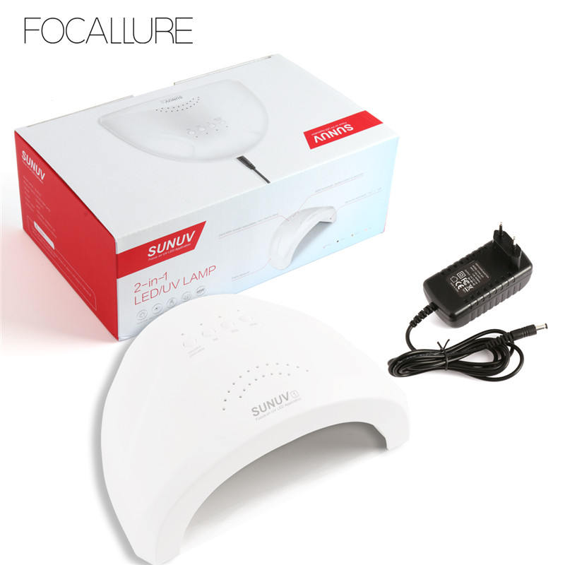 FOCALLURE Sunone 48W Professional Nail Lamp UV Lamp Nail Dryer for UV Gel LED Gel Nail Polish Machine Infrared Sensor жидкость domix green professional nail gel polish remuver