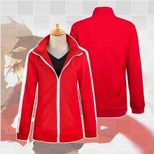 Anime Mekakucity Kagerou Proyecto Shintaro Kisaragi Cosplay Uniforme Unisex Rojo Con Capucha Abrigo de Ropa Deportiva 61302