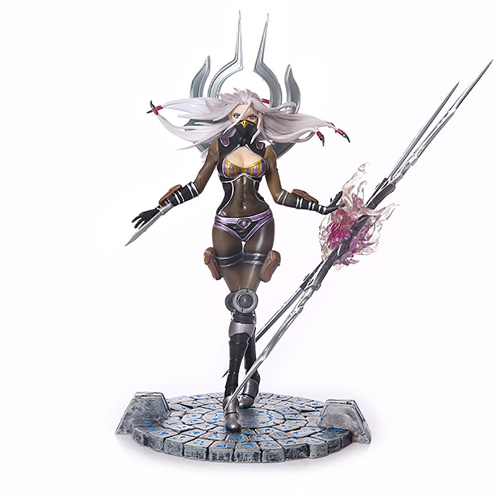 ELBCOS LOL Will of the Blades Irelia The original skin 25cm/9.8'' PVC Action Figure Toys Collection Model acgn lol game the void reaver toy figures classic collection khazix model with the original box action figure 18 cm wl0014