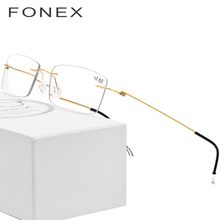 0c11901c923 (Ship from US) Rimless Reading Glasses Men Titanium Old Women Eyeglasses  Presbyopic Hyperopia Frameless Screwless Eyewear +1.0 +1.5 +2.0 +2.5