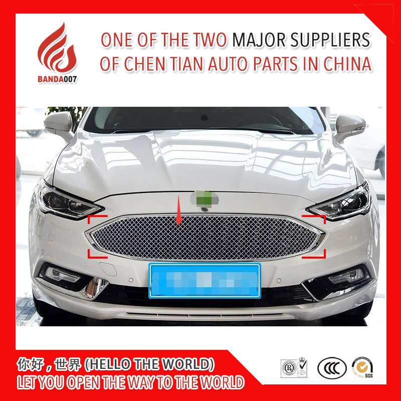 1 Piece Stainless fit well modification car front grille racing grills grill cover trim for Mondeo 2017