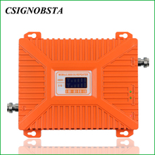 For Russia High Gain 70 dB Dual Band 3G WCDMA 2100MHz UMTS 4G LTE 2600MHz Mobile Phone Signal Repeater Booster Amplifier цены