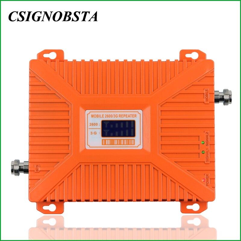 Pour La Russie à Gain Élevé 70 dB Double Bande 3g WCDMA 2100 mhz UMTS 4g LTE 2600 mhz Mobile téléphone Répéteur de Signal Booster Amplificateur