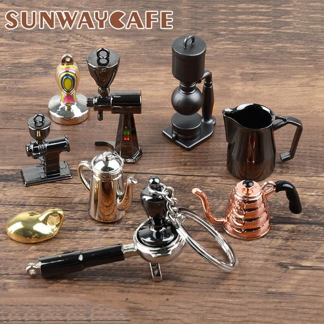 Coffeeware Espresso Zubehör Geschenk Kaffee Maschine Griff Moka Krug Schlüsselring Tragbare Kreative Barista Kaffee Tamper Keychain