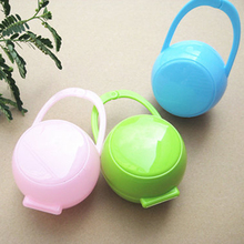 Baby Care Pacifier Holder Storage Cases Portable Baby Boy Girl Infant Pacifier Nipples Holder Box Clean Carrying Container