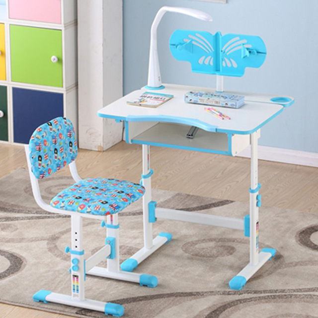 Children Furniture Sets One Table Chair Wooden Metal Adjule Kids And Study New