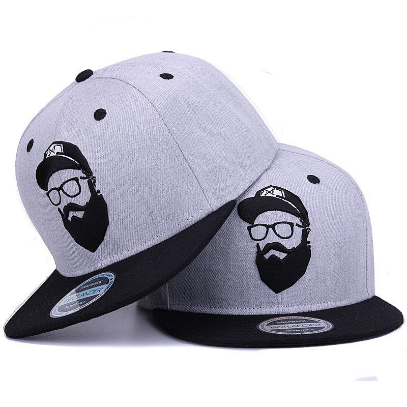 Original grey cool hip hop   cap   men women hats vintage embroidery character   baseball     caps   gorras planas bone snapback