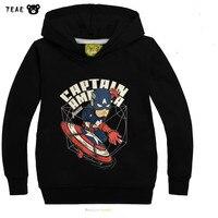 Super Hero Marvel bande dessinée noir à manches longues bébé garçon hiver veste enfant kid survêtement Chaud enfants manteau